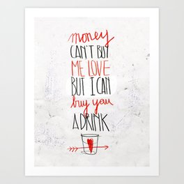 BUY ME LOVE Art Print