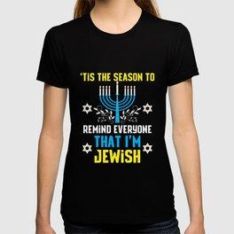 Funny Christmas Hanukkah Jewish Menorah Humor T-shirt