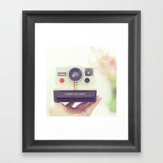 Polaroid Love. Framed Art Print