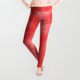 Gentle intersecting red translucent circles in pastel colors with a ruby glow. Leggings