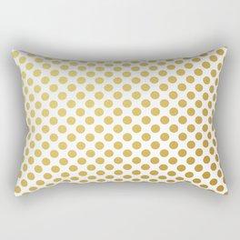 Gold dots on white Rectangular Pillow