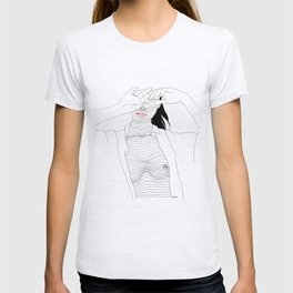 line drawing of a beautiful muse T-shirt