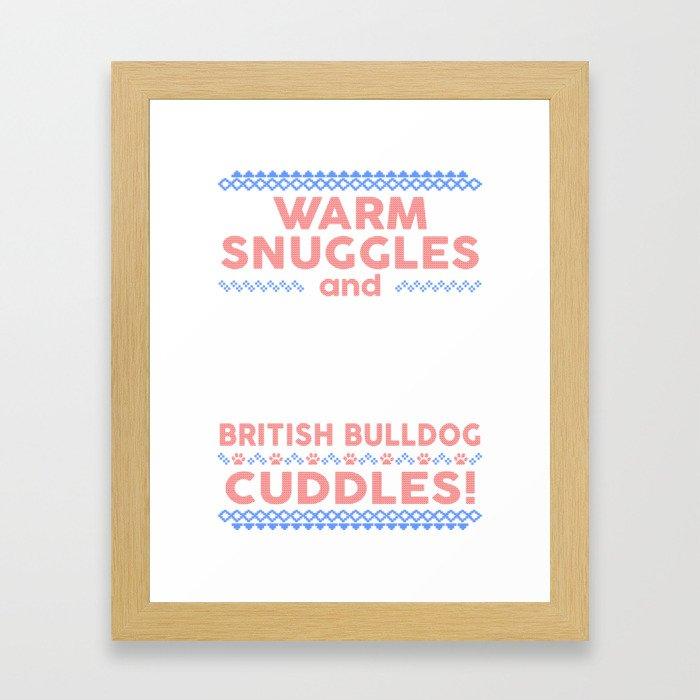 British Bulldog Ugly Christmas Sweaters Framed Art Print