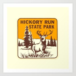 Hickory Run Camping Buck Deer PA Park Art Print