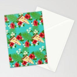 Hawaiian Pizza in a Hawaiian Print Stationery Cards