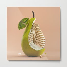 Skelepear Metal Print