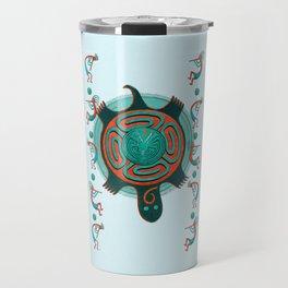Visitors Anasazi Folk Art Travel Mug