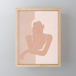 Minimal illustration of a Woman Framed Mini Art Print