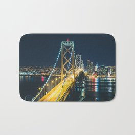Bay Bridge Long Exposure - San Francisco, California Bath Mat