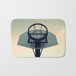 Basketball Sunset Bath Mat