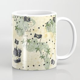 Hand Drawn Pirate Map Coffee Mug