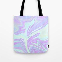 Unicorn Goo Liquid Holographic Texture Tote Bag