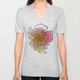 Chrysanthemum & Spider Unisex V-Neck