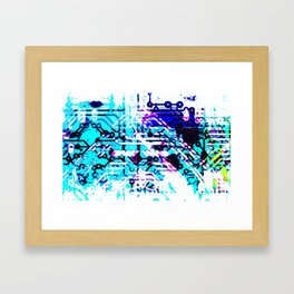 circuit board blue Framed Art Print