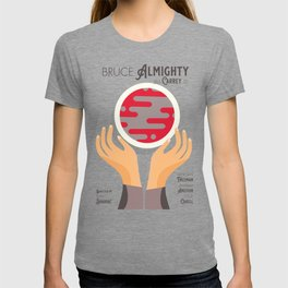 Bruce Almighty, alternative movie poster, Jim Carrey film, Morgan Freeman, Jennifer Aniston, Carell T-shirt