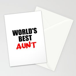 worlds best aunt funny sayings and logos Stationery Cards