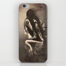 I Miss Us  (wood texture) iPhone & iPod Skin