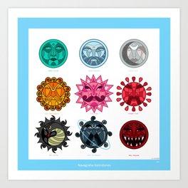 Gemstones in Astrology Art Print