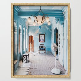 Blue Room in City Palace Udaipur in Rajasthan, India | Travel Photography | Serving Tray