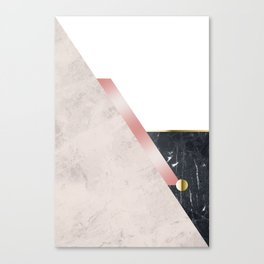 Rose Marbled Cubism Canvas Print