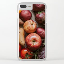 Red Fruits & Veg Clear iPhone Case