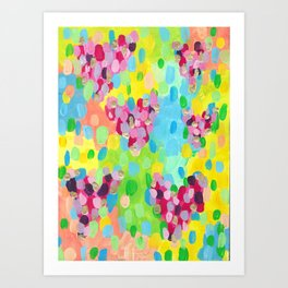 Abstract Candy Love Colorplosion Art Print