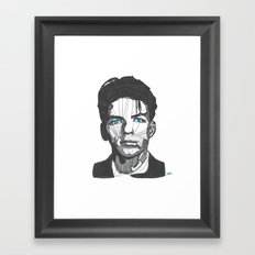 Ol' Blue Eyes Framed Art Print