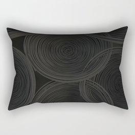 Black spiraled coils Rectangular Pillow