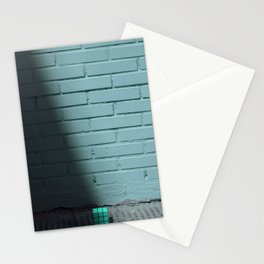Blue and shady cube Stationery Cards