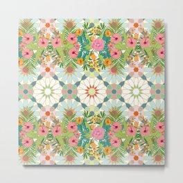 floral zellij ntropical Metal Print