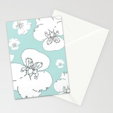Green Pansies Stationery Cards