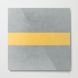gray and yellow classic Metal Print