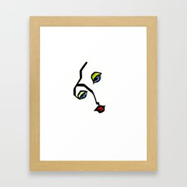 Abstract face Framed Art Print