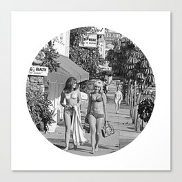 Surf Girls Shopping Canvas Print