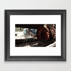 Wheel and Chair Framed Art Print