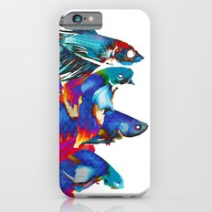 FIGHTING FISHES BETTA - Animals | Psychedelic | 70's | Abstract | Pop | Surrealism | Nature iPhone 6s Slim Case