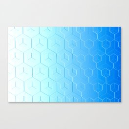 Silver to Blue Gradient Canvas Print