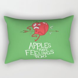 Apple Shot Rectangular Pillow
