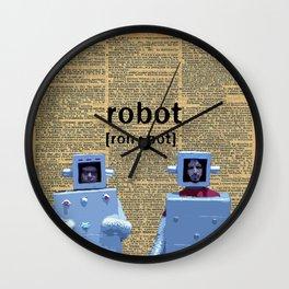 Flight of the Robots Wall Clock