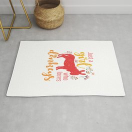 Just A Girl Who Loves Donkeys Rug