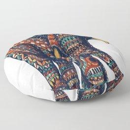 Ornate Elephant v2 (Color Version) Floor Pillow