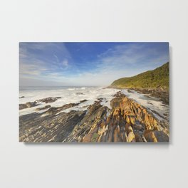 Rocky coastline in Garden Route National Park, South Africa Metal Print