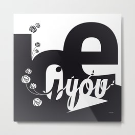 I Love You 3 Metal Print