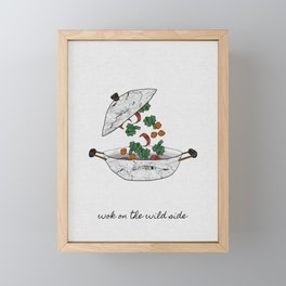Wok On The Wild Side, Music Quote Framed Mini Art Print