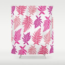 Inked Ferns – Blush Palette Shower Curtain