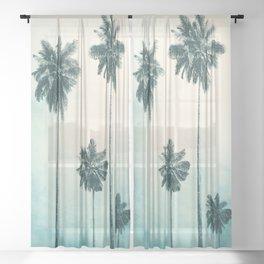 Palm Trees Sheer Curtain