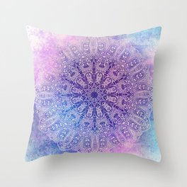 big paisley mandala in light purple Throw Pillow