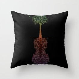 Rooted Sound IV Throw Pillow