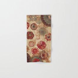 Bohemian Floral Moroccan Style Design Hand & Bath Towel