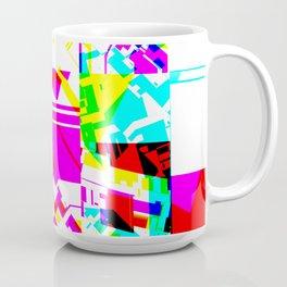 Glitch geometric pattern design artwork Coffee Mug